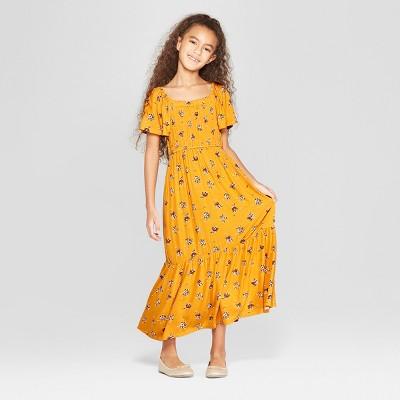 Girls' Smocked Maxi Dress - art class™ Yellow