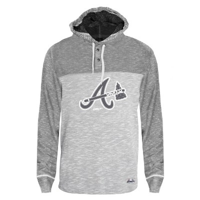 MLB Atlanta Braves Men's Clubhouse Tonal Henley Hoodie