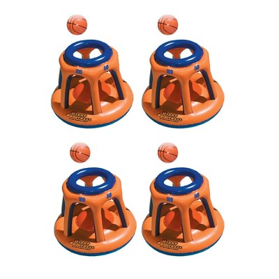 Swimline 90285 Basketball Hoop Giant Inflatable Fun Swimming Pool Toy (4 Pack)