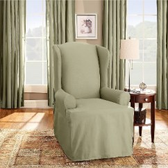 Anna Slipcover Chair Collection Leather Bean Bag Chairs For Adults Cotton Duck Wing Sure Fit Target
