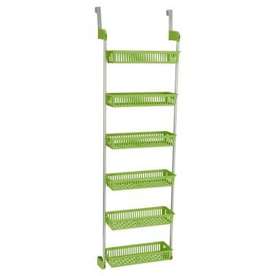 Household Essentials - 6-Basket Over-the-Door Organizer - Lime