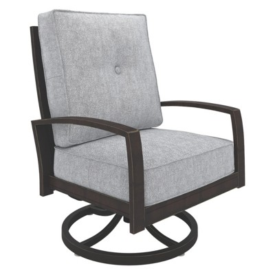 swivel lounge chairs garden tub chair covers castle island dark brown outdoor by ashley target