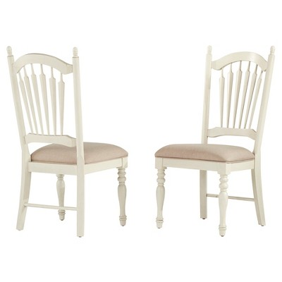 antique white dining chairs chippendale meadow hills side chair wood set of 2 inspire q
