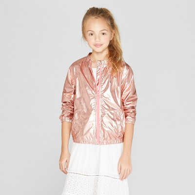 Girls' Long Sleeve Bomber Jacket - Cat & Jack™ Pink
