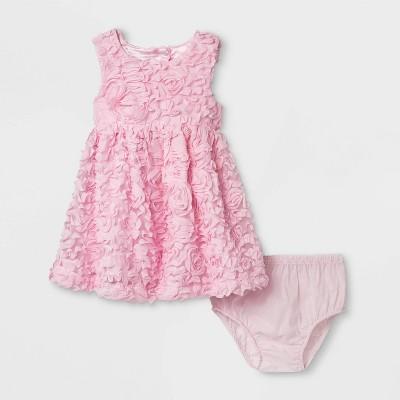 Baby Girls' 3D Mesh Dress - Cat & Jack™ Pink