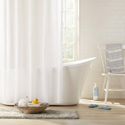 2pk heavyweight peva shower curtain liner frost clorox
