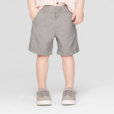 Toddler Boys' Quick Dry Chino Shorts - Cat & Jack™ Heather Gray