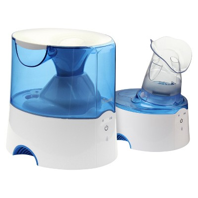 Crane 2-in-1 Warm Mist Steam Inhaler Humidifier 0.5 Gallon - Blue & White