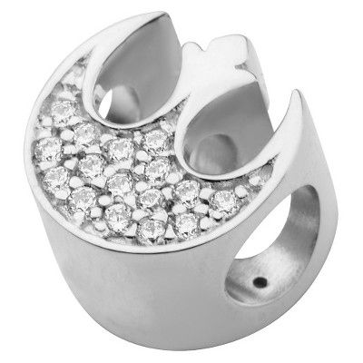 Men's  'Star Wars' Rebel Alliance Symbol 925 Sterling Silver Bead Charm with Clear CZ
