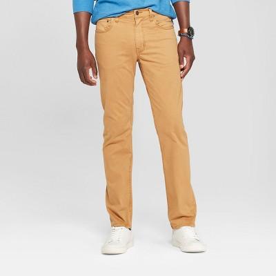 Men's Slim Straight Fit Twill Pants - Goodfellow & Co™ Khaki
