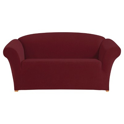 Stretch Pixel Corduroy Loveseat Slipcover - Sure Fit