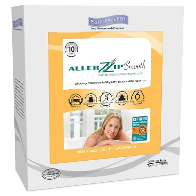 Protect-A-Bed AllerZip Smooth Anti-Allergy & Bed Bug Proof Mattress Encasement