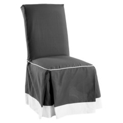 Dining Chair Covers Target Tennis Court Chairs Cotton Duck Two Tone Slipcover