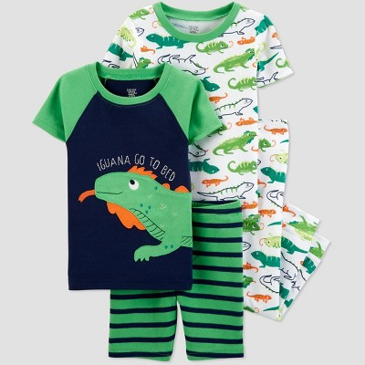 Baby Boys' 4pc Green Iguana Pajama Set - Just One You® made by carter's Green/White