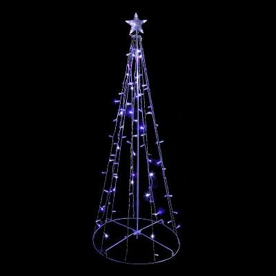 Northlight 5' Prelit Artificial Christmas Tree Twinkling Blue/White Lights