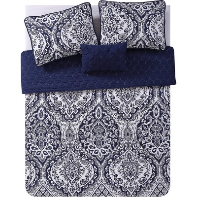 Tori Quilt Set Navy - VCNY Home