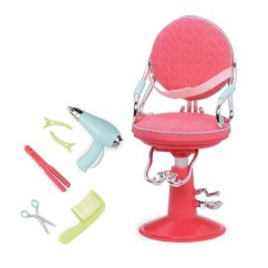 Doll Salon Chair Beach Carrier For Bike Our Generation Sitting Pretty Pink Quilted Hearts Target