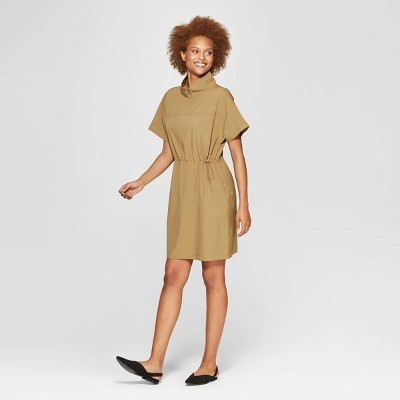 Women's Short Sleeve Collared Tunic Dress - Prologue™