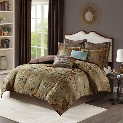 8pc Noura Chenille Jacquard Comforter Set