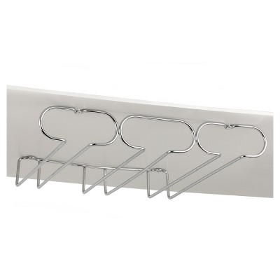 Spectrum Under Cabinet Triple Stemware Holder - Chrome