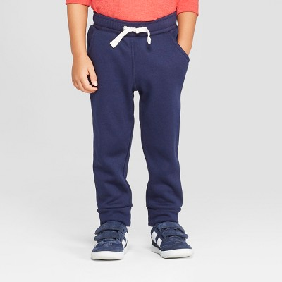 Toddler Boys' Cozy Back Pull-On Jogger Pants - Cat & Jack™ Navy