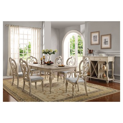 antique white dining chairs salon chair rentals abelin arm set of 2 acme target