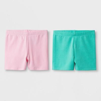Toddler Girls' 2pk Biker Shorts - Cat & Jack™ Light Pink & Green