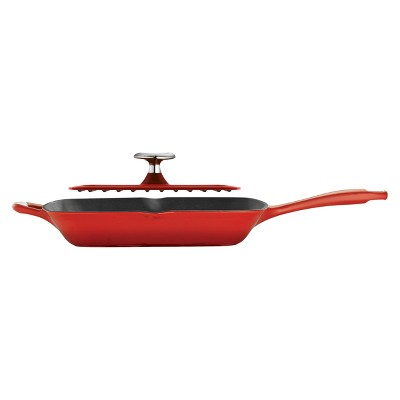 Tramontina Cast Iron Grill Pan with Press