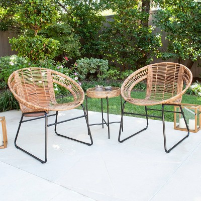 alaneace 3pc outdoor patio bistro set aiden lane