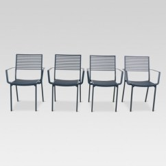 Aluminum Dining Chairs Target Cocoon Chair Ikea 4pk Slat Patio Project 62