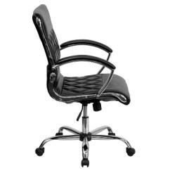 Leather Chrome Chair Drexel Heritage Chairs Executive Swivel Office Black Flash Furniture Target