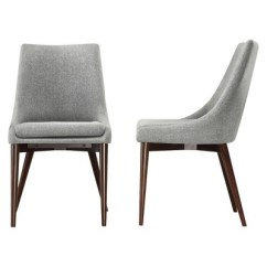 Mid Century Dining Chairs Retro Metal Patio Sullivan Chair Wood Gray Set Of 2 Homelegance Inspire Q