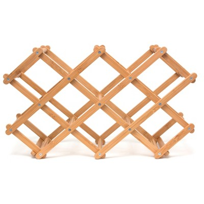 Lipper International® Bamboo Folding Wine Rack