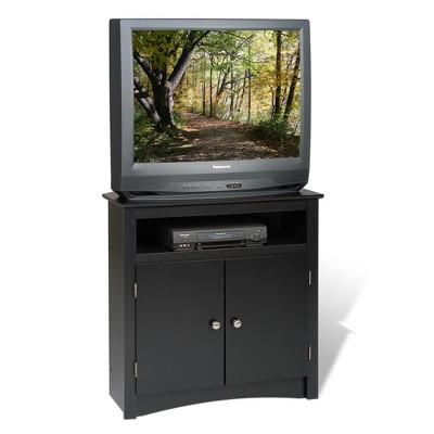 Tall Corner TV Cabinet Black  Prepac  Target