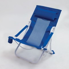 Portable Beach Chair Folding Blind Outdoor Blue Evergreen Target