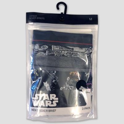Men's Star Wars Comic Art 2pk Boxer Briefs - Black