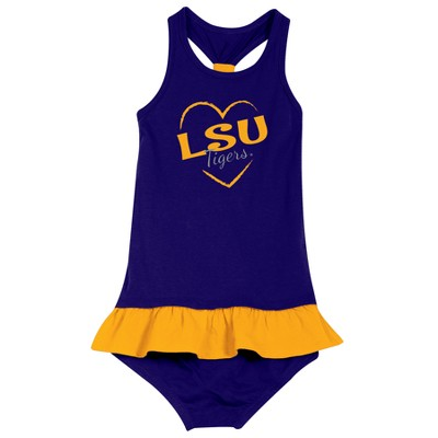 LSU Tigers After Her Heart Toddler Dress