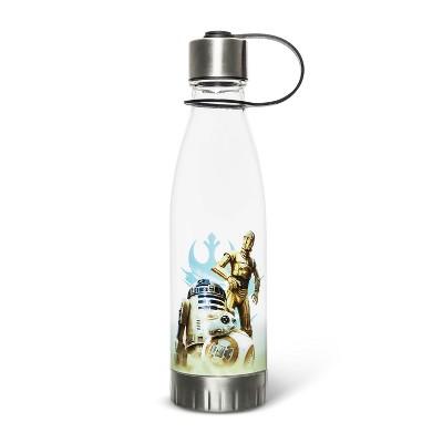 Star Wars 20oz Plastic Tritan Water Bottle - Silver Buffalo