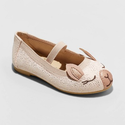 Toddler Girls' Cynthia Ballet Flats - Cat & Jack™ Tan