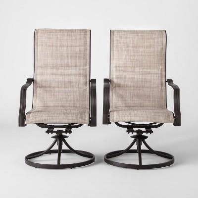 marrion 2pk sling swivel rocker patio dining chair threshold