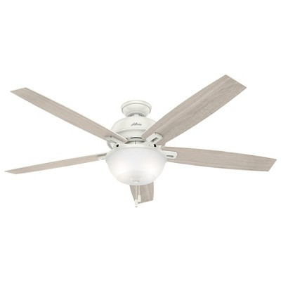 "60"" Donegan Bowl Light Fresh White Ceiling Fan with Light - Hunter Fan"