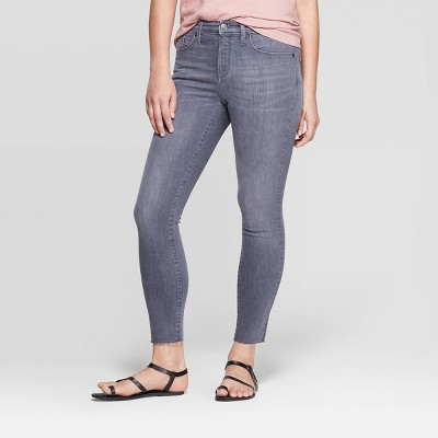 Women's High-Rise Cropped Skinny Jeans - Universal Thread™ Gray Wash