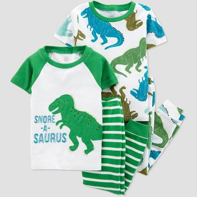 Baby Boys' 4pc Dino Pajama Set - Just One You® made by carter's Green/White