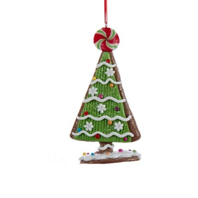 """Kurt S. Adler 5"""" Tree with Candy and Peppermint Topper Christmas Ornament - Green/White"""