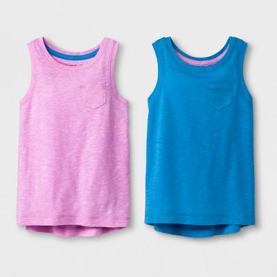 Toddler Girls' 2pk Tank Tops - Cat & Jack™ Royal Blue/Violet