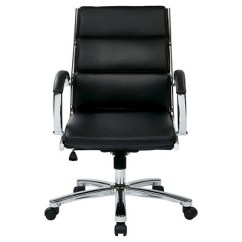 Office Star Chairs Santa Chair Covers Mid Back Executive Faux Leather Black Target