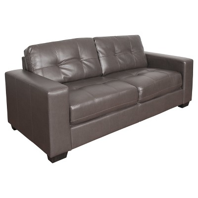 Club Tufted Bonded Leather Sofa - CorLiving