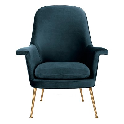 Aimee Velvet Arm Chair - Safavieh