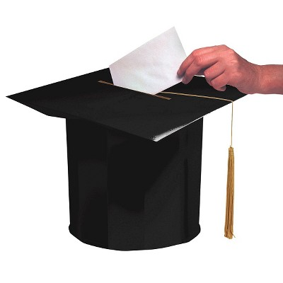 black graduation cap party