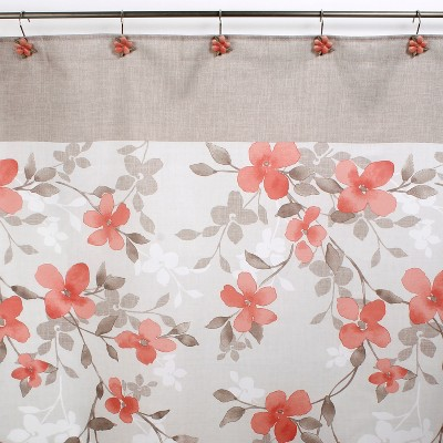 coral color shower curtains target